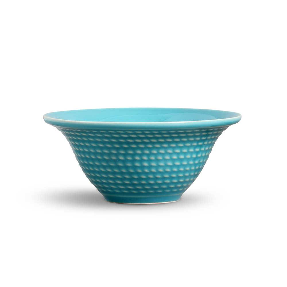 Conjunto 6 Bowls Olímpia Azul Poppy - em Cerâmica - La Tavola - Porto Brasil - 15,5x7 cm