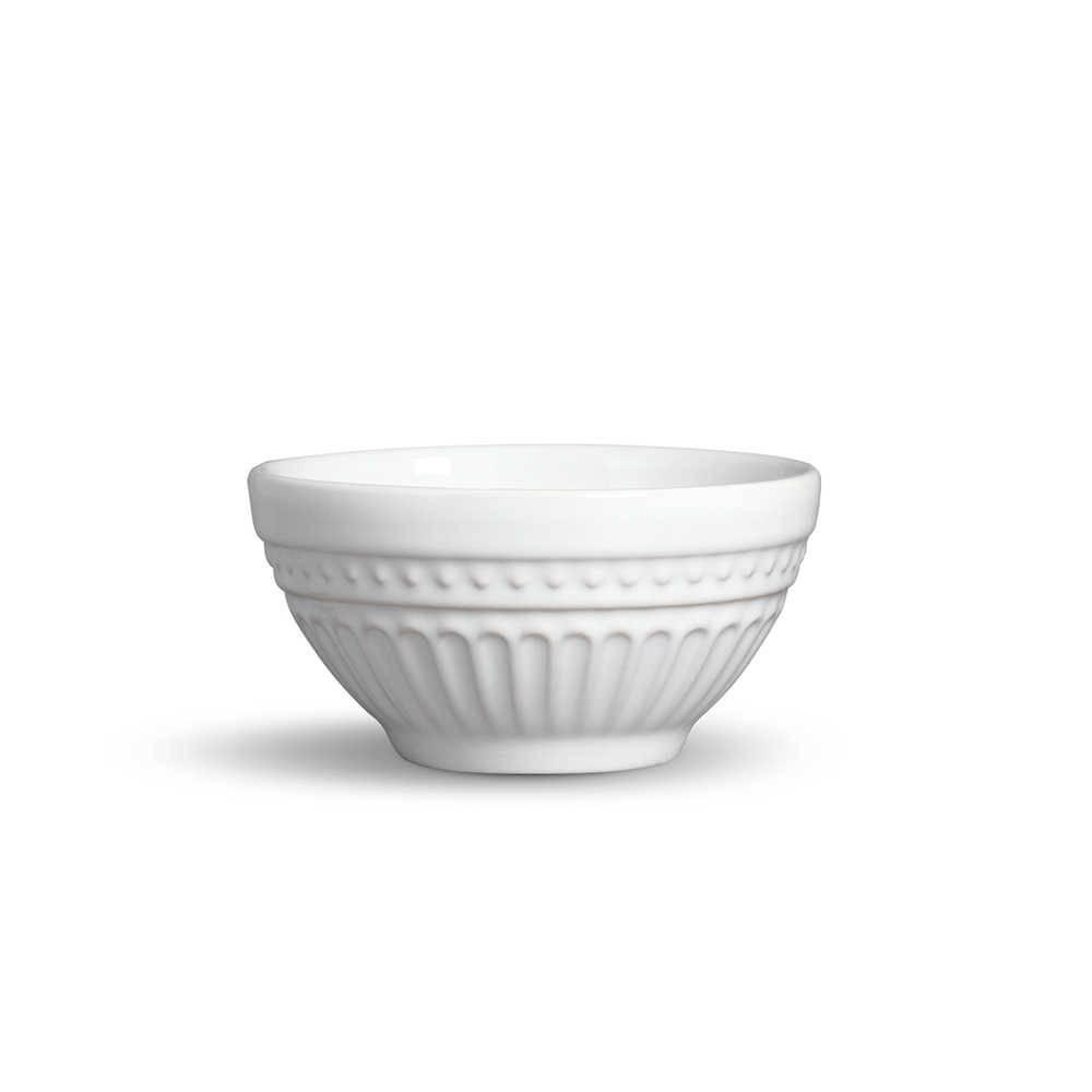 Conjunto 6 Bowls Pérgamo Branco 420 ml em Cerâmica - Porto Brasil - 12,5x6,5 cm