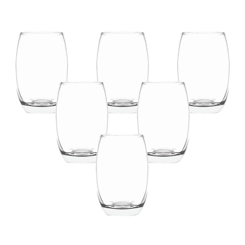 Conjunto 6 Copos Belizze 450 ml Incolor em Vidro - Cisper - 12,2x8,4 cm