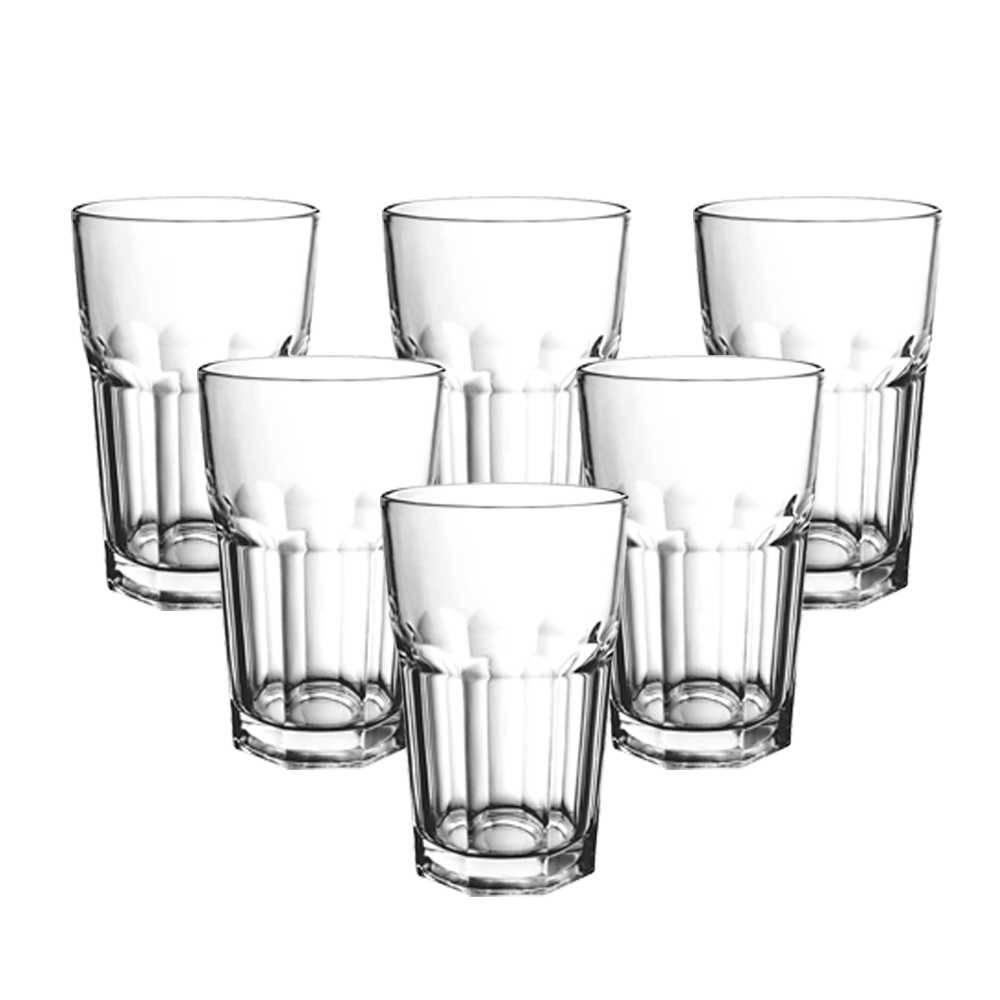 Conjunto 6 Copos para Drink Allure - 450 ml - em Vidro Transparente - Bon Gourmet