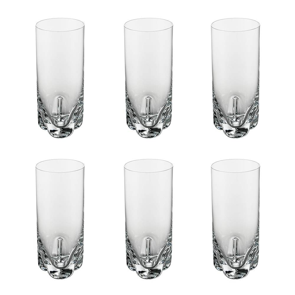Conjunto 6 Copos Long Drink Trio - 340 ml - em Vidro - Bohemia - 17x6,5 cm