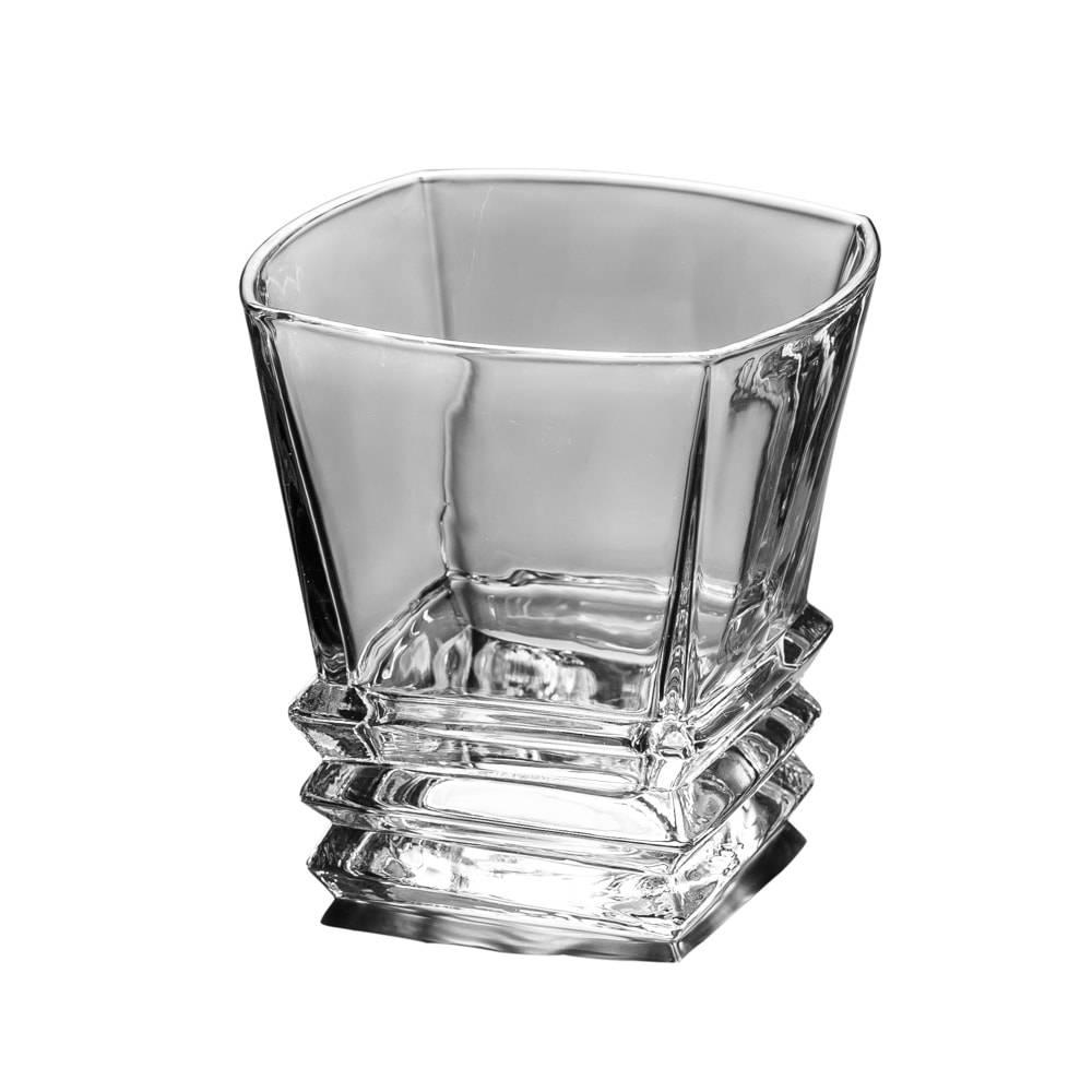 Conjunto 6 Copos para Whisky Step - 275 ml - em Cristal - Lyor Classic - 12x10 cm