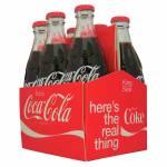 Conjunto 6 Mini Garrafas Coca-Cola Filled Six Pack em Vidro