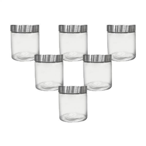 Conjunto 6 Potes Porta Mantimento Veltron em Vidro com Tampa - 880 ml - Dynasty