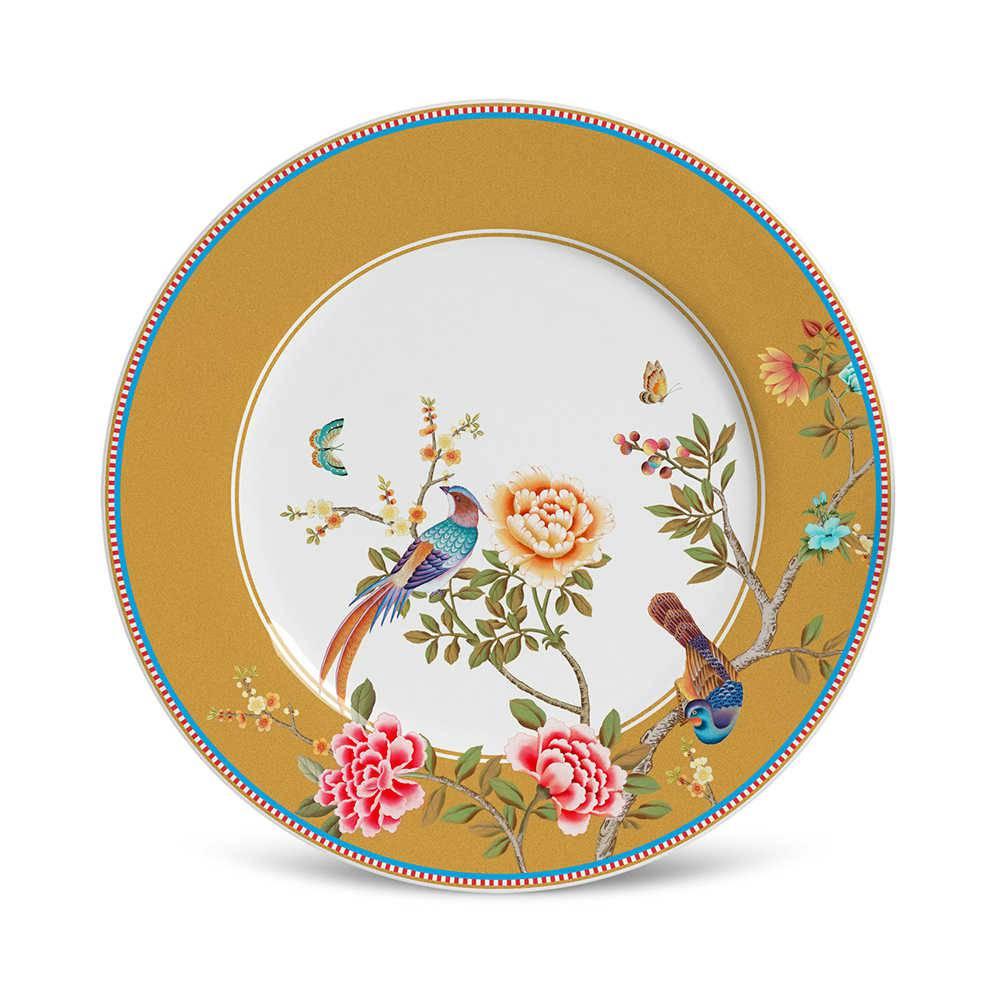 Conjunto 6 Pratos de Sobremesa Flat Faenza em Cerâmica - Porto Brasil - 20,5x2 cm