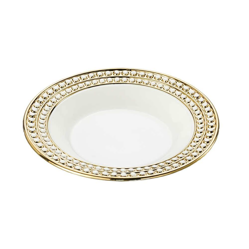 Conjunto 6 Pratos para Sopa Charme em Porcelana - Lyor Classic - 23x6 cm