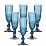 Conjunto 6 Taças para Champanhe Flash Azul - Lyor Design