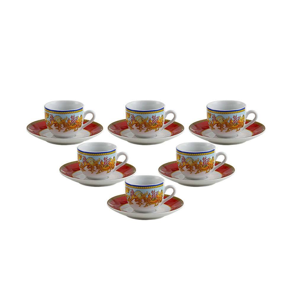 Conjunto 6 Xícaras para Café com Pires Baeza - 90 ml - em Porcelana - Wolff