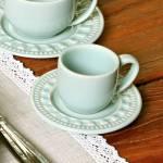 Conjunto 6 Xícaras para Café com Pires Parthenon Verde