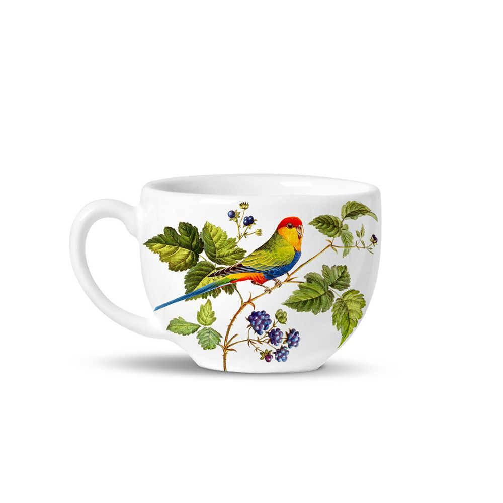 Conjunto 6 Xícaras de Chá Avulsas Basic Berry em Cerâmica - La Tavola - Porto Brasil
