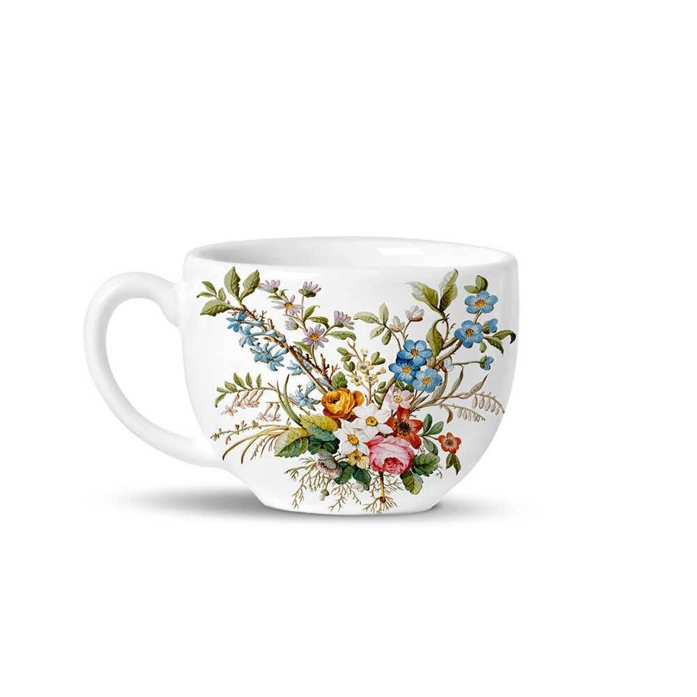 Conjunto 6 Xícaras de Chá Avulsas Basic Botanique em Cerâmica - La Tavola - Porto Brasil