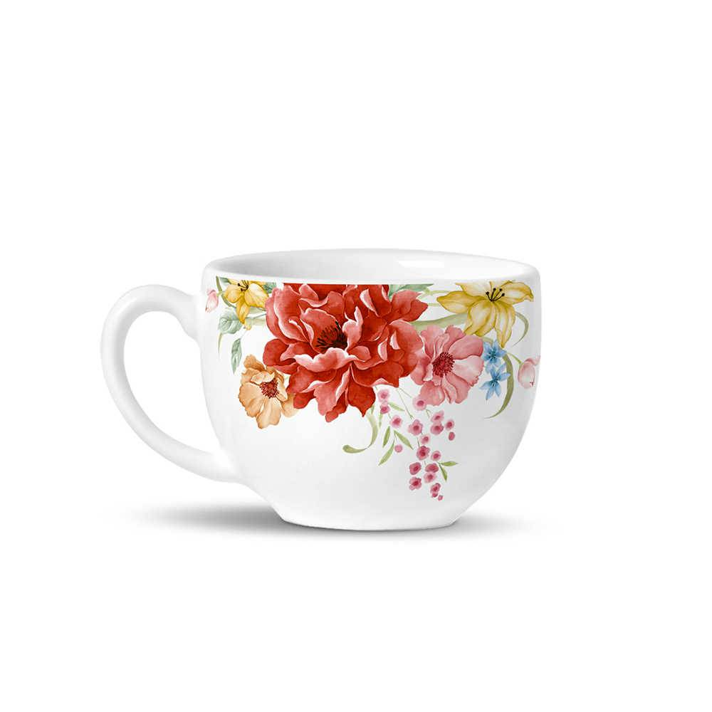 Conjunto 6 Xícaras de Chá Avulsas Basic Bouquet em Cerâmica - La Tavola - Porto Brasil