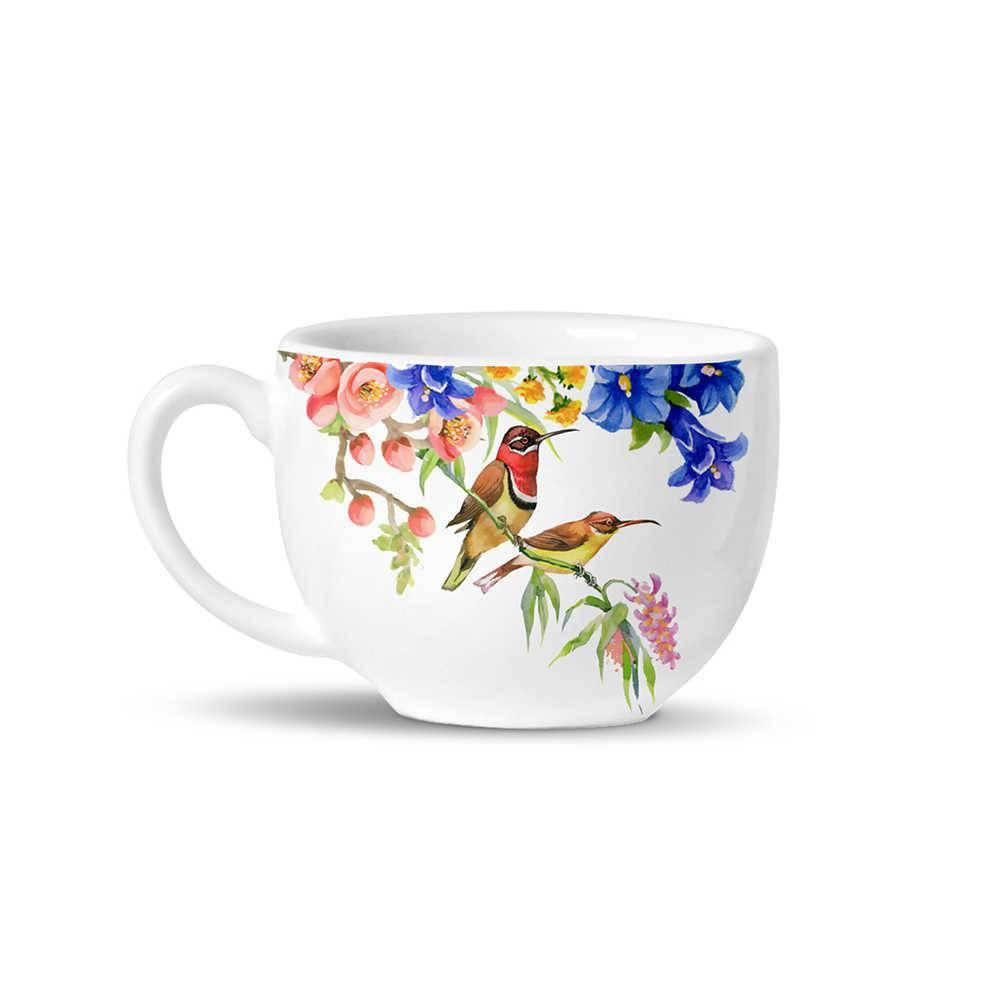 Conjunto 6 Xícaras de Chá Avulsas Basic Paradise em Cerâmica - La Tavola - Porto Brasil