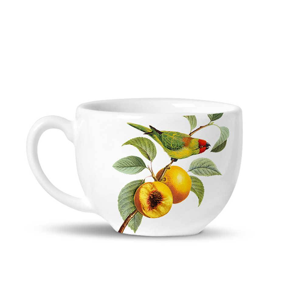 Conjunto 6 Xícaras de Chá Avulsas Basic Pêssegos em Cerâmica - La Tavola - Porto Brasil