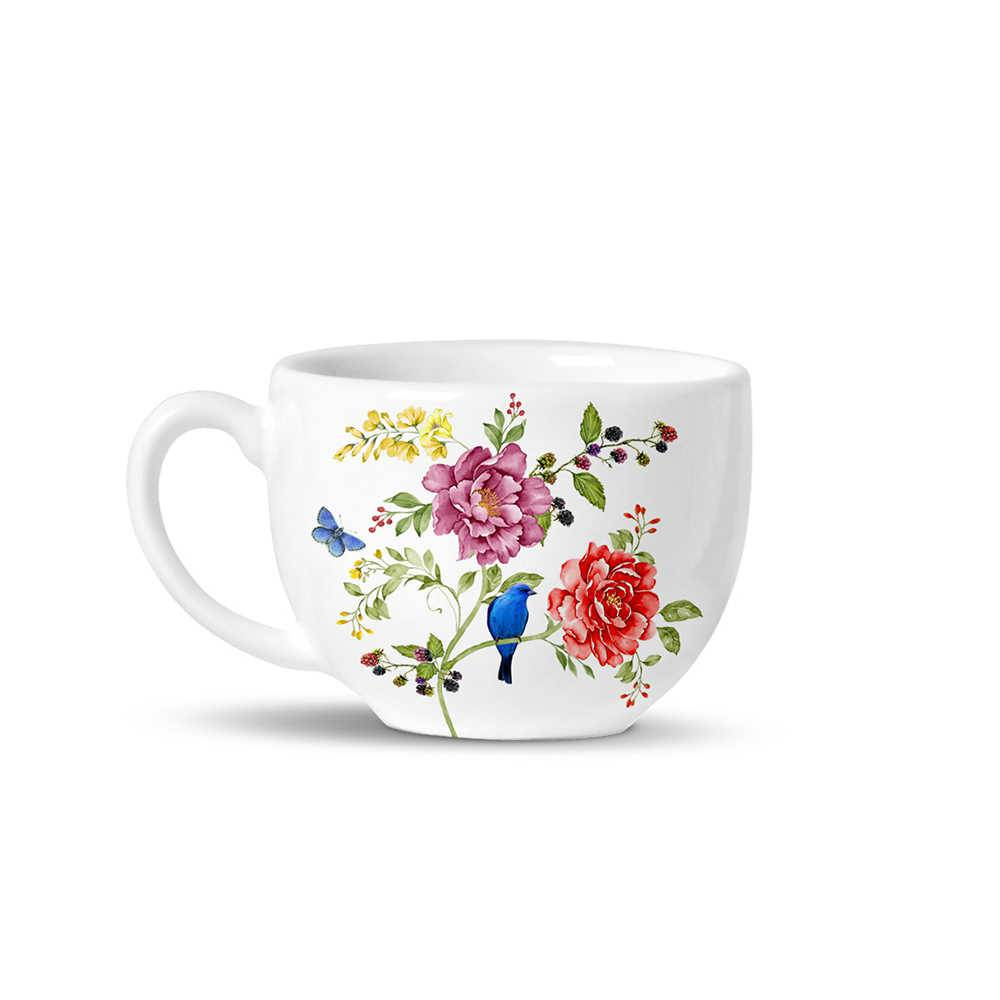 Conjunto 6 Xícaras de Chá Avulsas Basic Primavera em Cerâmica - La Tavola - Porto Brasil