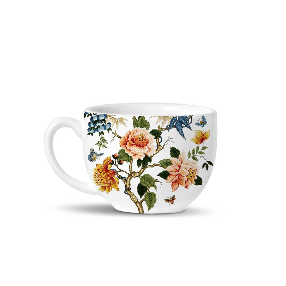 Conjunto 6 Xícaras de Chá Avulsas Basic Shangai em Cerâmica - La Tavola - Porto Brasil
