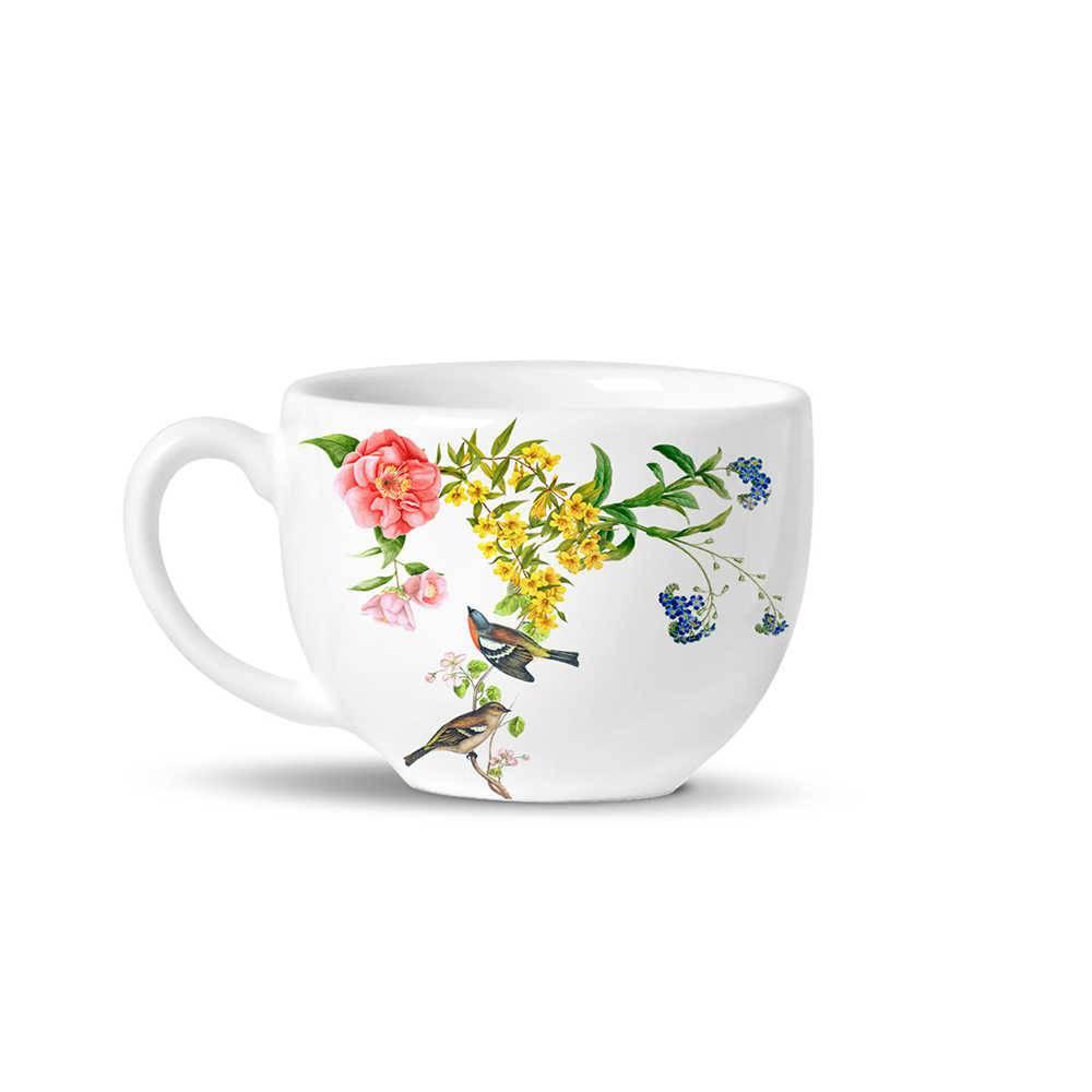 Conjunto 6 Xícaras de Chá Avulsas Basic Silvestre em Cerâmica - La Tavola - Porto Brasil