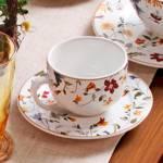 Conjunto 6 Xícaras de Chá com Pires Flat Astúrias