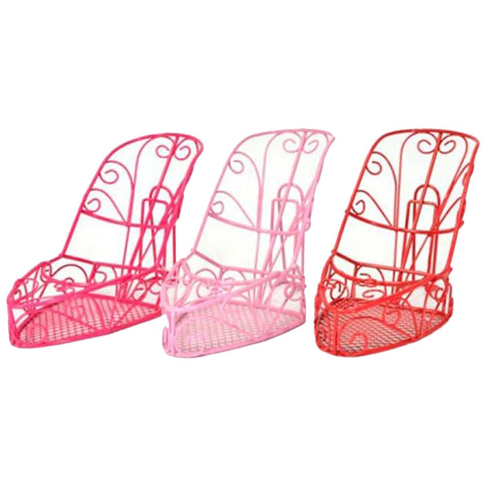 Conjunto Adornos Decorativo Peep Toe Cinderela - 3 Peças - Coloridos em Metal - 23x15 cm