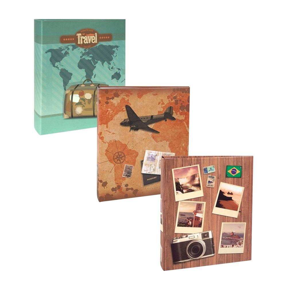 Conjunto de Álbuns Viagem - 600 Fotos - Capa Dura Impressa - 25,5x24 cm