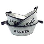 Conjunto de Bacias em Metal Garden Greenway