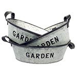 Conjunto de Bacias Oval em Metal Garden Greenway