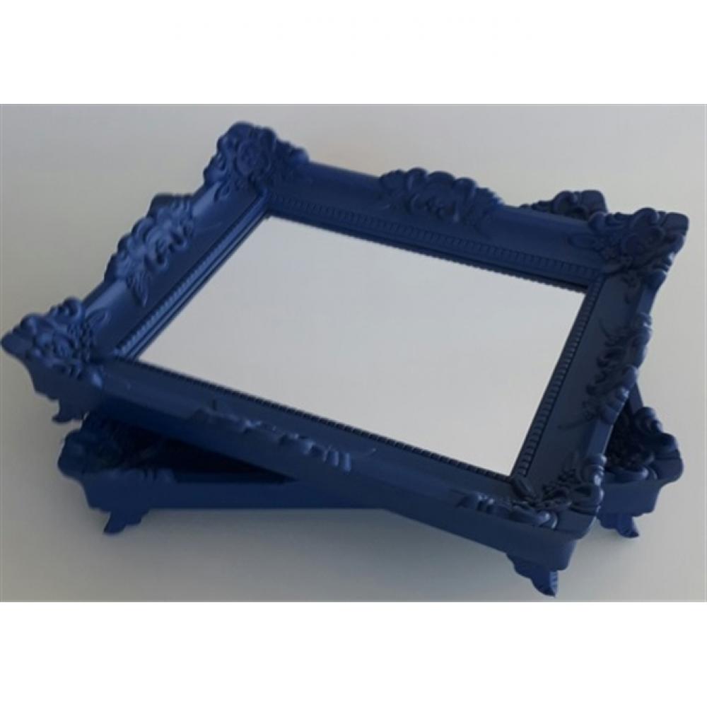 Conjunto Bandeja Rococó Azul Royal