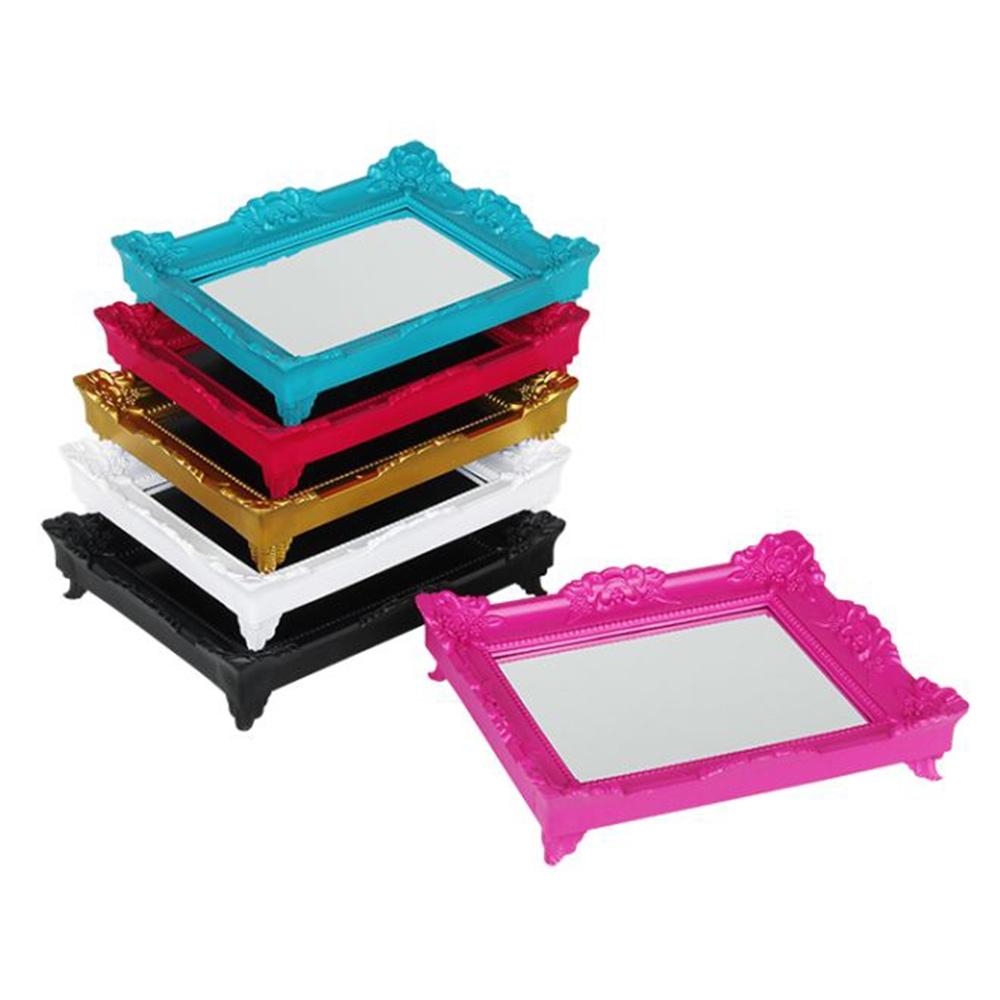 Conjunto de Bandejas - 6 peças - Rococó Multicoloridas Médias - 30x24 cm
