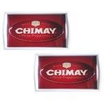 Conjunto de Bandejas Chimay em MDF e Fundo de Vidro - 2 peças - 38x24 cm