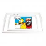 Conjunto de Bandejas Homer e a Lata de Duff Vermelha - 2 Peças - em MDF - 38x24 cm