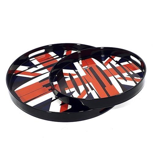Conjunto de Bandejas London Redonda Fullway - 2 Peças - 45cm