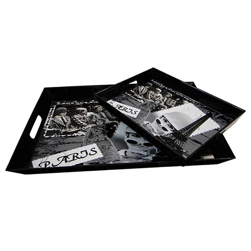Conjunto de Bandejas Paris Fullway - 2 Peças - 45x31 cm