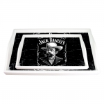 Conjunto de Bandejas Retrato Jack Daniels Preto e Branco - 2 Peças - em MDF - 38x24 cm