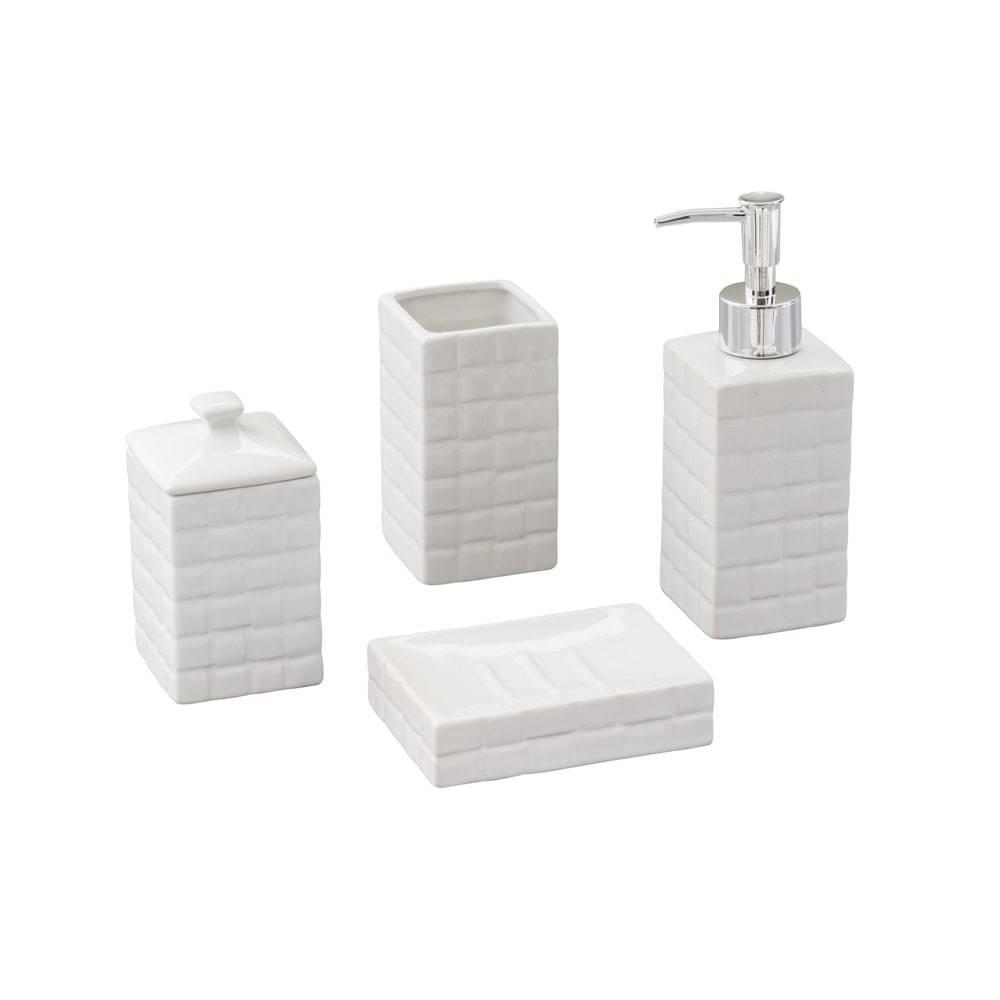 Conjunto para Banheiro Space com 4 Peças em Cerâmica - Lyor Design