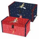 Conjunto de Baús Clássicos - 2 Peças - O Pequeno Príncipe em Madeira - 50x25 cm