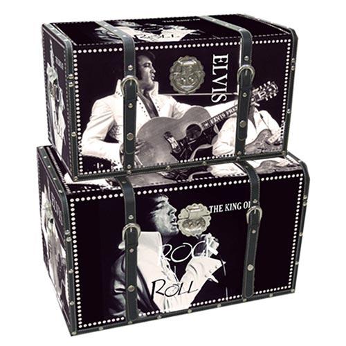 Conjunto de Baús Elvis Hollywood on Set Collection Vell Chic - 2 Peças - 56x33 cm
