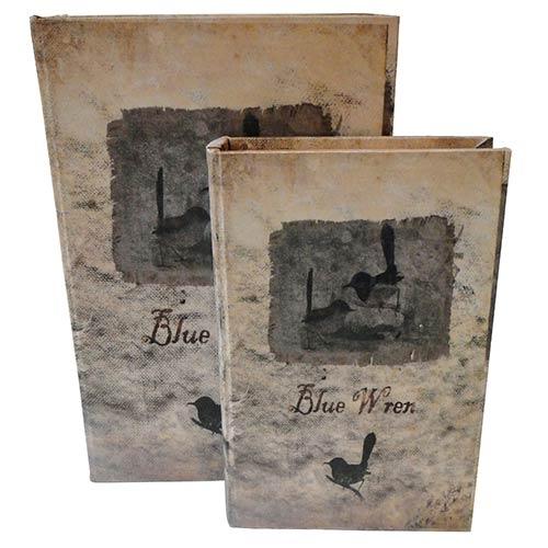 Conjunto Book Box 2 Peças Birds Oldway - 33x22 cm
