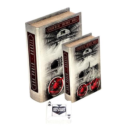 Conjunto Book Box 2 Peças Cartas Estação da Luz Fullway - 20x14 cm