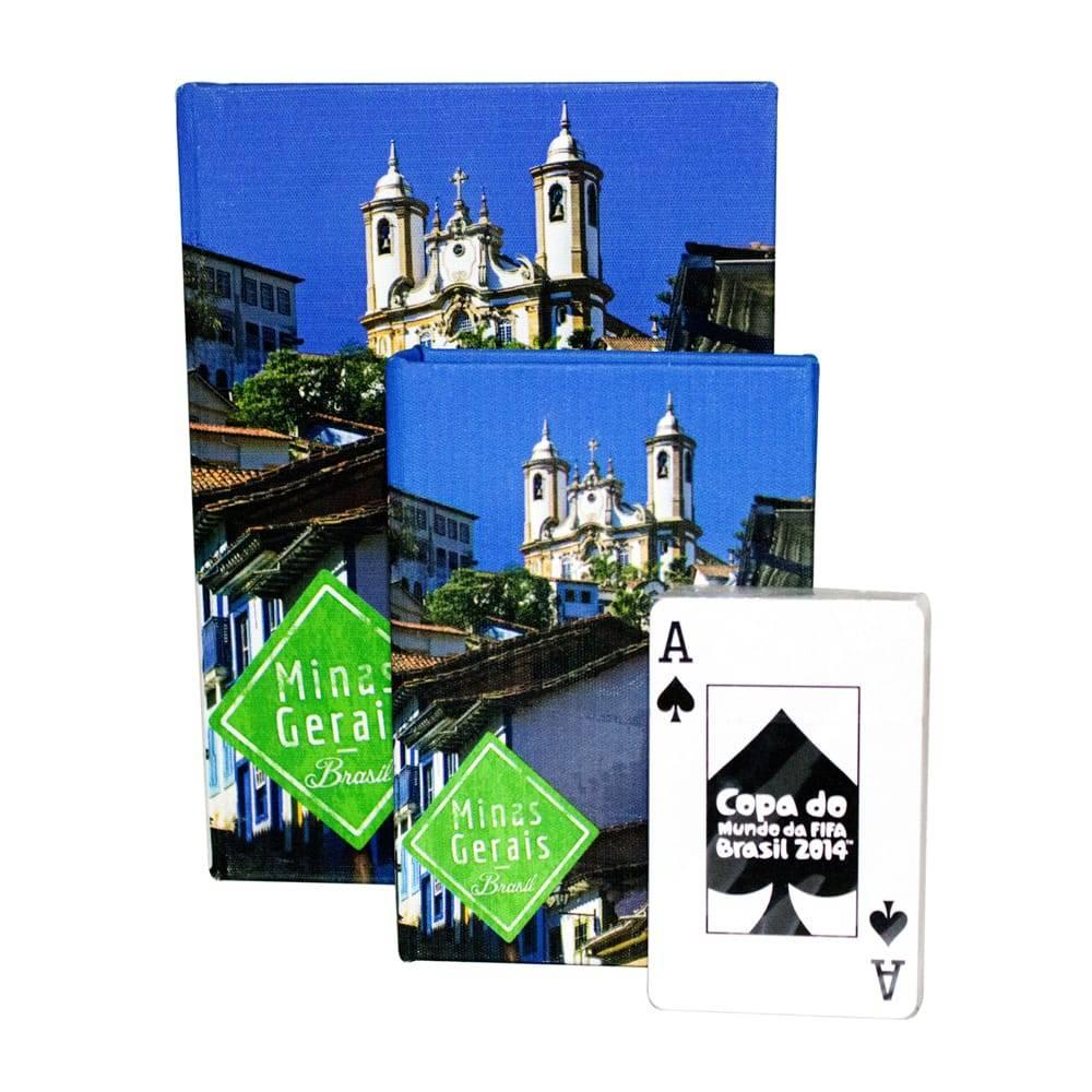 Conjunto Book Box 2 Peças Cartas Minas Gerais Fullway - 20x14 cm