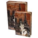 Conjunto Book Box 2 Peças Paris Audrey Oldway - 33x22 cm