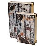 Conjunto Book Box 2 Peças de Seda Home e Family Oldway - 33x22 cm