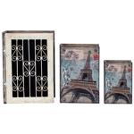 Conjunto Book Box - 3 Peças - Grande Iron Paris Oldway