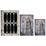 Conjunto Book Box - 3 Peças - Iron Big Ben Oldway - 35x26 cm