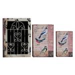 Conjunto Book Box - 3 Peças - Iron Pássaros Oldway