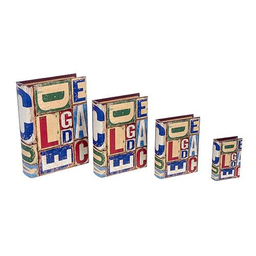 Conjunto Book Box 4 Peças ABC Design Fullway - 37x27 cm