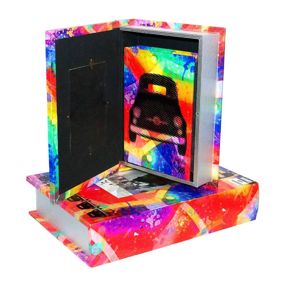 Conjunto Book Box - 4 Peças - Porta Retrato Design Fiat Oldway em MDF - 38x28 cm