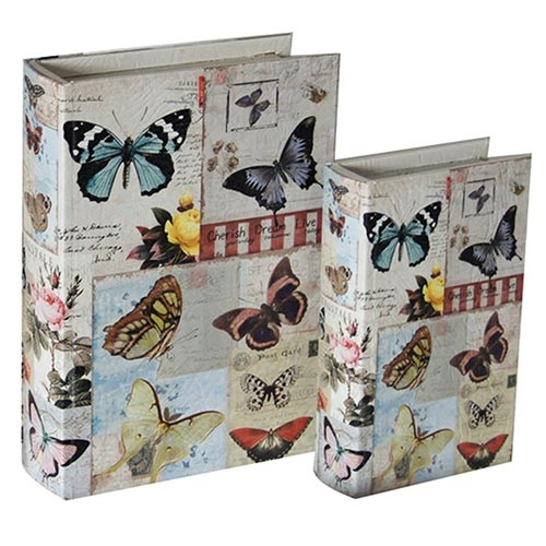 Conjunto Book Box Birds and Butterflies Collection Vell Chic - 30x22 cm