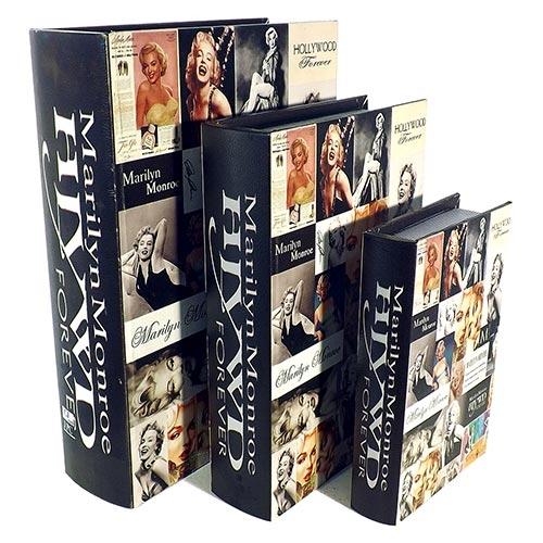 Conjunto Book Box Fotos Marilyn Fullway - 3 peças - 35x26 cm