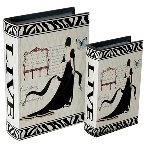 Conjunto Book Box Girls Live Just Girls Collection Vell Chic - 30x22 cm