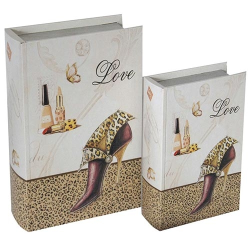 Conjunto Book Box Girls Love Shoes Collection Vell Chic - 30x22 cm
